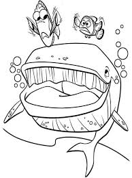 bruce finding nemo coloring kids coloring