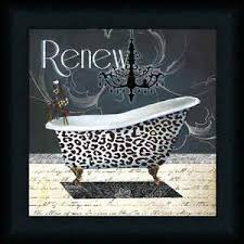 Cheetah Print Bathroom by Renew Conrad Knutsen 12x12 Cheetah Print Bathroom Decor Art Print