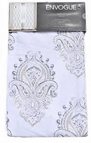 Damask Kitchen Curtains by Amazon Com Envogue Medallion Window Curtains Gray Taupe Torino