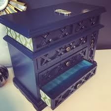 navy jewelry navy blue midnight blue jewelry box peacock embellished