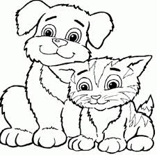 fashionable design ideas dogs and cats coloring pages how to color