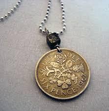 coin necklace vintage images Sixpence coin necklace english rose irish shamrock scottish jpg