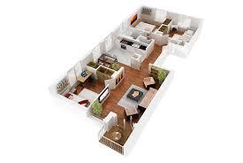 5 room floor plan 3d floor plan realistic rendering architectural 3d visualization