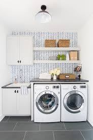 how to install base cabinets in laundry room wallpapered laundry room the lilypad cottage