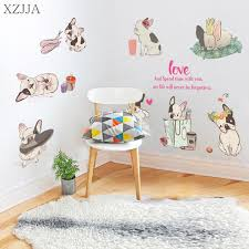 Cute Cabinet Online Shop Xzjja Cute French Bulldog Wall Sticker For Kid Rooms