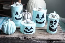 tin halloween decorations diy tin can pumpkins re fabbed