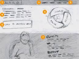 inspiring wireframe sketches web design ledger