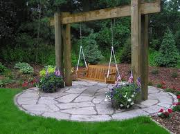 Pretty Backyard Ideas Pretty Idea For Outdoor Swing My Dad Made One When We Were