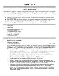 ideas of college instructor resume sample also format sample