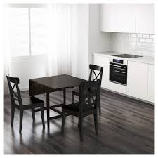 Pine Drop Leaf Table And Chairs Ingatorp Drop Leaf Table Black Brown 59 88 117x78 Cm Ikea