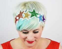 sparkly hair glitter rainbow headband basil s boutique