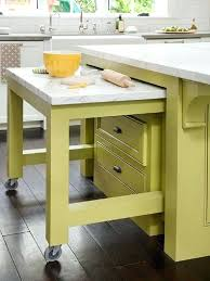 pull out table kitchen table with drawers a pull out table on wheels can make a