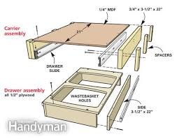 Building Kitchen Base Cabinets by High Quality 45kgs Capacity Built In Damper Slow Moving Drawer