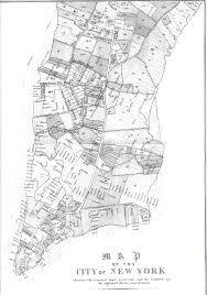 A Map Of New York City by 1852 New York City Farms