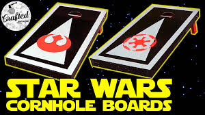 how to make star wars boards bean bag toss youtube