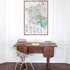 papier peint a colorier france poster à colorier omy design and play pour chambre enfant