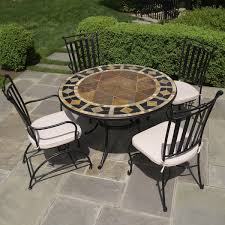 tile top patio table and chairs round patio furniture restaurant patio furniture mosaic patio for