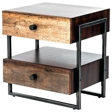 round industrial side table rustic industrial end table industrial end tables industrial rustic
