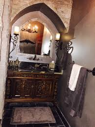 Vanity World Arched Stone Vanity Area In Our Main Floor Guest Old World Castle