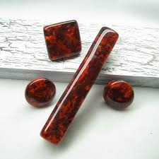 glass knobs for kitchen cabinets red handmade glass cabinet hardware unique drawer pulls decorative