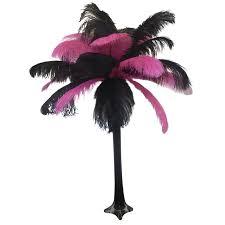Ostrich Feather Centerpieces Pink