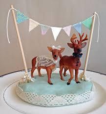 deer cake topper handmade deer cake topper