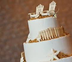 wood cake toppers adirondack chairs wedding cake topper