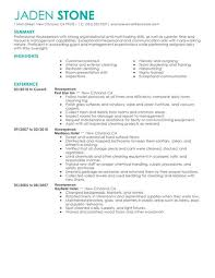 Sample Resume Hospitality Skills List by Best Houseperson Resume Example Livecareer