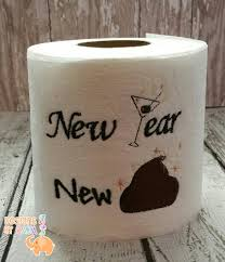new year embroidered toilet paper christmas decorations funny