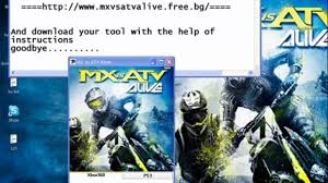 motocross vs atv free download mx vs atv alive keygen xbox 360 ps3 and pc