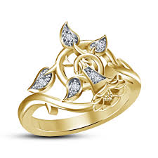 rings bell images New design bell stylish ring in 925 sterling silver 14k gold jpg