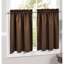 Lorraine Curtains Lorraine Home Fashions Facets Brown Blackout Insulated Kitchen
