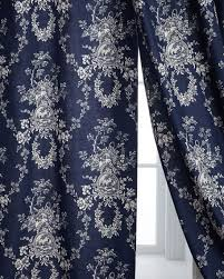 Blue Toile Curtains Sherry Home Two 96 L Country Toile Curtains Neiman