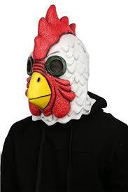 Rooster Halloween Costume Amazon Mask Deluxe Latex Head Cosplay Costume