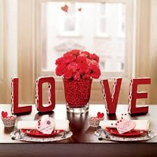 Love Decorations For The Home | valentine home decor with romantic alphabet love and red flowers