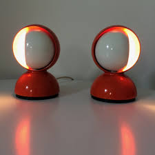 Red Desk Light Pair Of Eclisse Desk Lamps By Vico Magistretti For Artemide 1960s