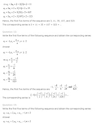 ncert solutions for class 11 maths solutions ch 9 sequences series