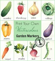 garden markers free printable garden markers adventure in a box