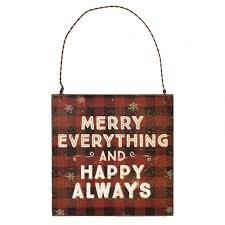 happy everything sign 5 square wooden merry everything hanging sign buffalo