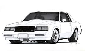 drift cars drawings 1986 buick grand national drawing by vertualissimo on deviantart