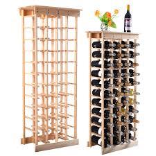 costway wood wine rack stackable storage storage display shelves