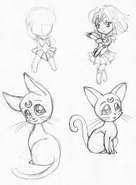 chibi sketch sailor moon 1 by jenuoneart on deviantart
