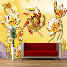 aliexpress com buy rich gold fish around lotus vintage art