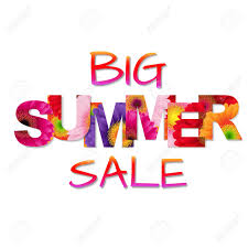 summer sale colorful big summer sale poster illustration royalty free cliparts