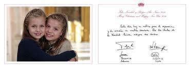 spanish royals christmas cards 2015 zimbio