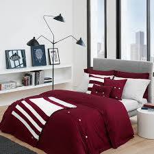 Solid Color Comforters Shop Lacoste Brushed Twill Solid Collection Cabernet The Home