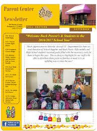 parent center newsletter september 2016 bridgeport public