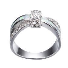 amazon com bamos jewelry womens amazon com rongxing jewelry artificial opal ring