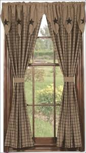 Primitive Country Kitchen Curtains Black Gingham Curtains