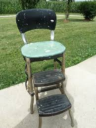 Step Stool Chair Combination Bold Colors Retro Step Stool Chair